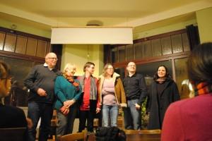 Zusammen mit Horst-Dieter Radke, Monika Detering, Ulrike Renk, Karen Lark und Heike Wolf im Kulturcafé Knicklicht 2013