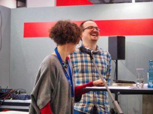 Zusammen mit Joan Weng auf der Read & Greet - Bühne auf der Leipziger Buchmesse 2018